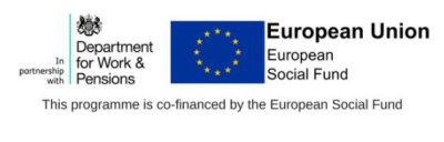 Department for Work and Pensions and European Social Fund logo