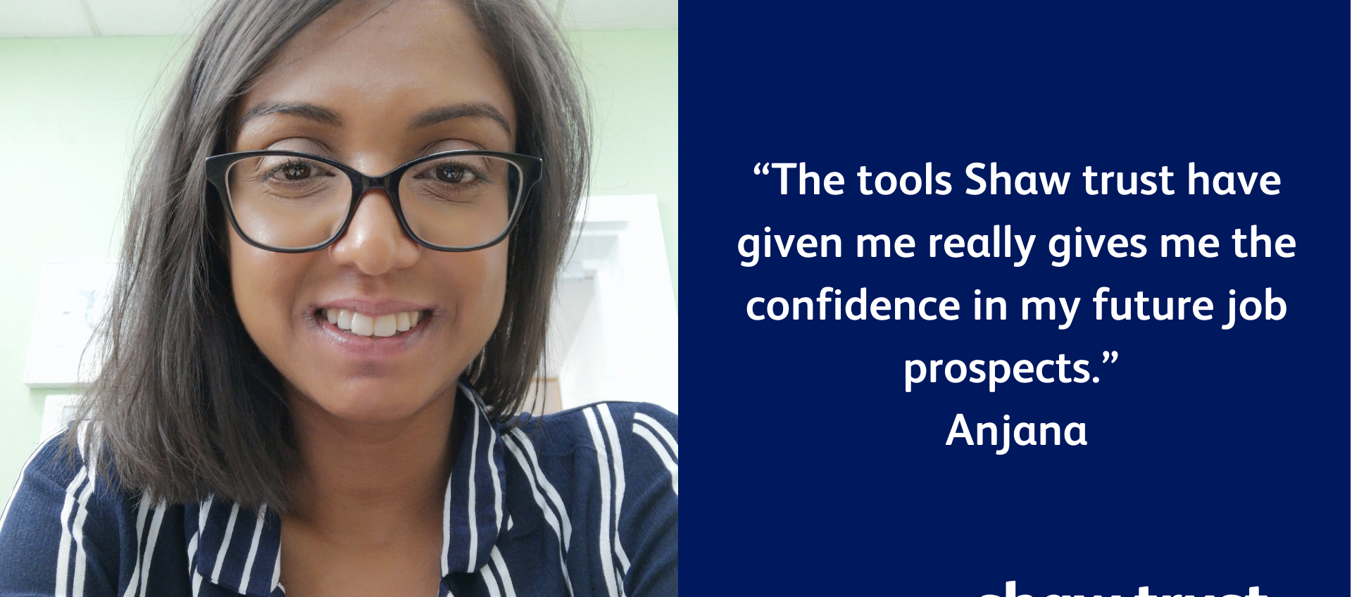 Image of Anjana with a quote