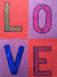 Photo of the word love hand drawn